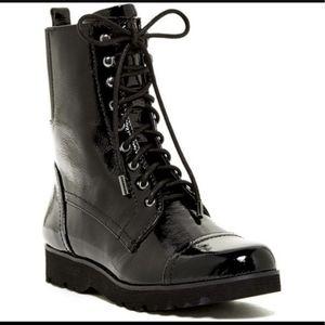 DONALD J. PLINER patent leather boots size.8M